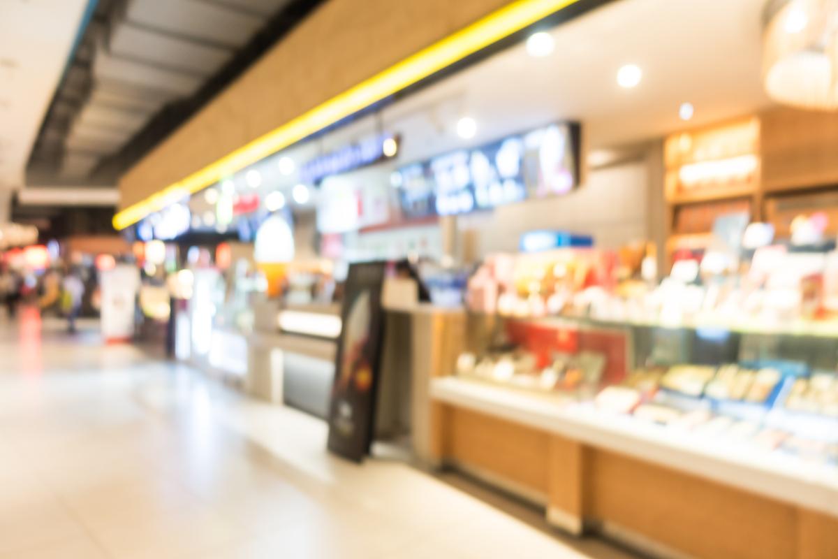 image block  Blog abstract blur beautiful luxury shopping mall and PFTVU9E